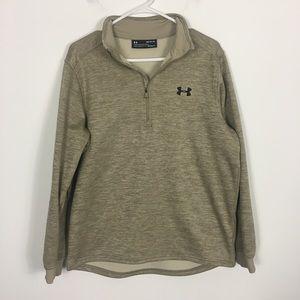 Under Armour Tan Half Zip Pullover Sweatshirt